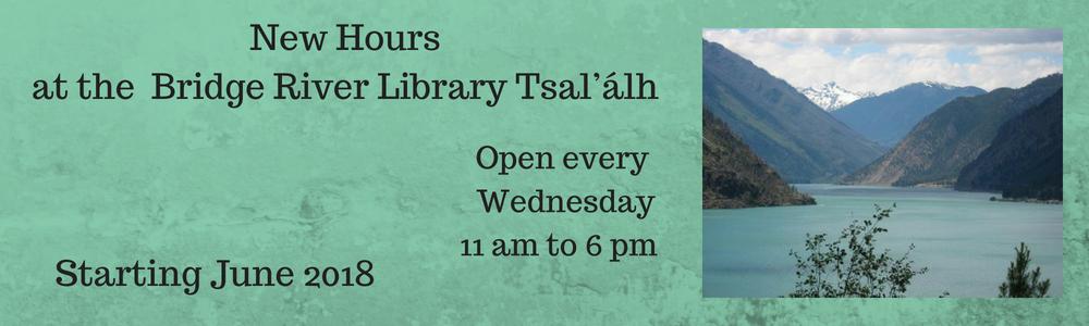 New Hours at Tsal'álh